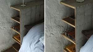 Lit En Palette Avec Rangement : t te de lit palette cadre en bois mat riaux recycl s deco recup ~ Melissatoandfro.com Idées de Décoration
