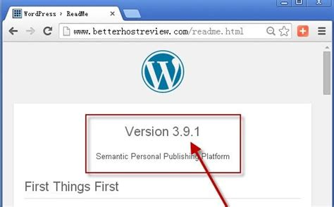 How To Find Out Your Wordpress Version?