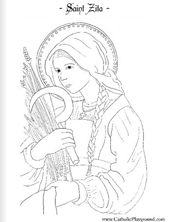 zita catholic coloring page feast day is april 27th 571 | a9a74e4f50c2f9345b683a2dfd3c226b