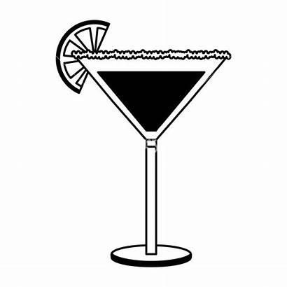 Alcohol Clipart Glass Cocktail Slice Orange Vector