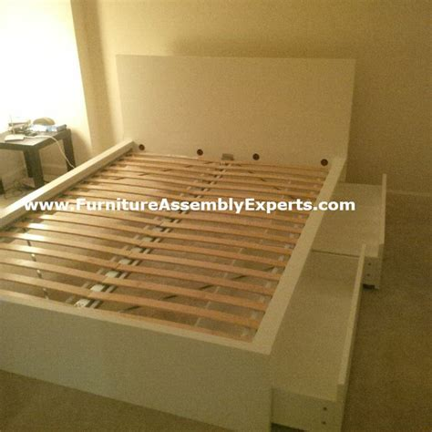 Malm Bed Assembly by Ikea Malm Bed High With Storage Drawers Assembled In Johns