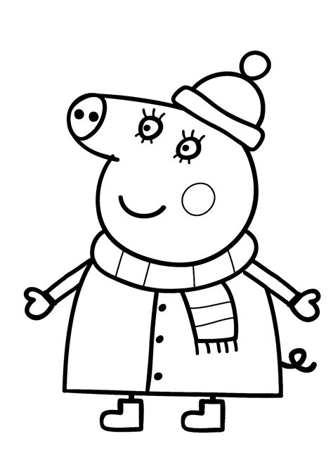 Peppa Pig Coloring Pages Halloween Coloring Home