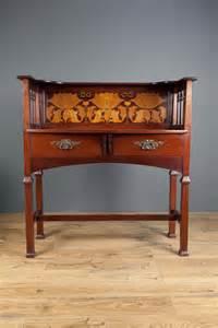 Art, Nouveau, Mahogany, Side, Table