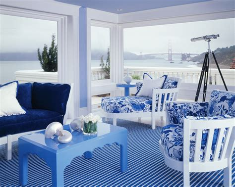Create Blue White Sunroom by White And Blue Sunroom Ideas