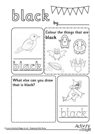 black worksheet colour worksheets
