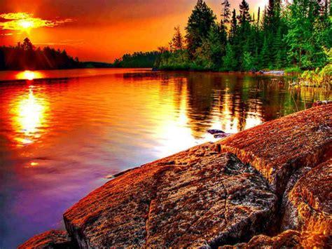 wallpaper-post: วอลเปเปอร์ ภาพวิวธรรมชาติ พระอาทิตย์ตกดิน