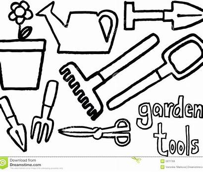 Coloring Garden Pages Tools Gardening Tool Rose