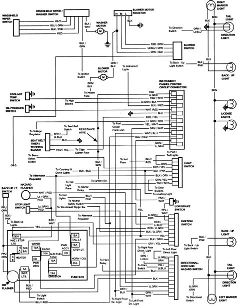 Ford Bronco Instrument Panel Wiring Diagram All