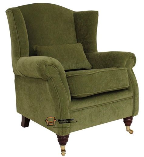High Back Recliner Armchair by Fireside High Back Wing Armchair Pimlico Green