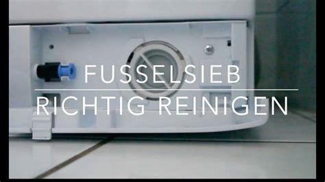 flusensieb waschmaschine flusensieb richtig reinigen wartung kinderleicht
