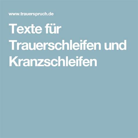 texte fuer trauerschleifen und kranzschleifen