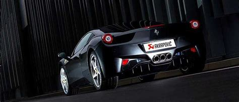video akrapovic lifts ferrari  italia  roar
