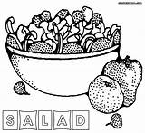 Salad Coloring Pages Fruit Sheet Printable Food Vegetables Colorings Fruits Getdrawings sketch template
