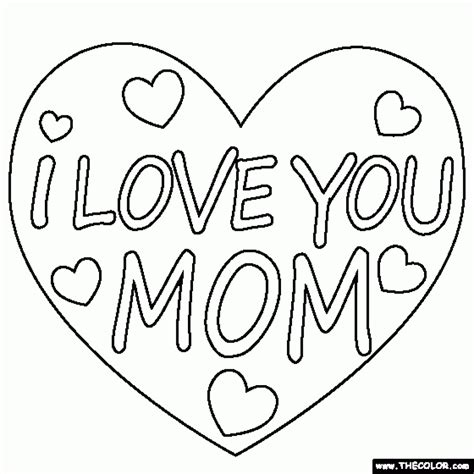 Best Mom Colouring Pages Excellent I Love You Mommy