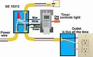How To Wire Ge 15312 Sunsmart Timer For Single Pole  U0026 3