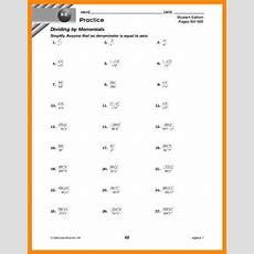 Multiplying Monomials Worksheet Homeschooldressagecom