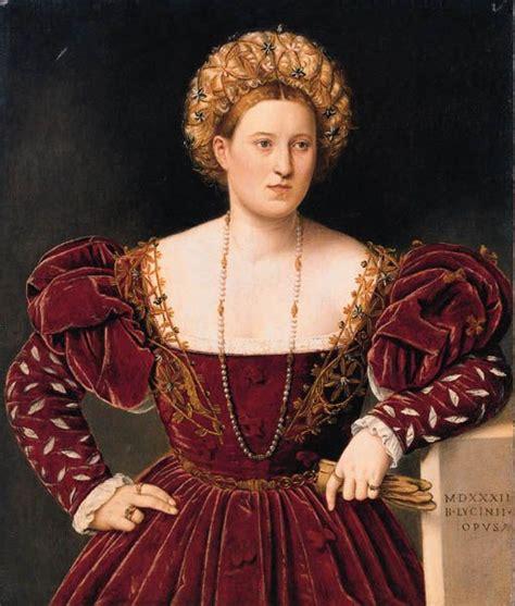 Bernardino Licinio 1489 1565 Portrait Of A Lady Dated