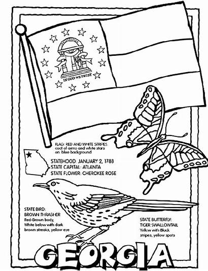 Coloring Crayola Georgia Pages State