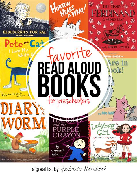 top 10 favorite books for preschoolers andrea s notebook 199 | 10 favorite read aloud books