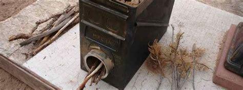 diy ammo box stove rocket stoves ammo cans wood stove