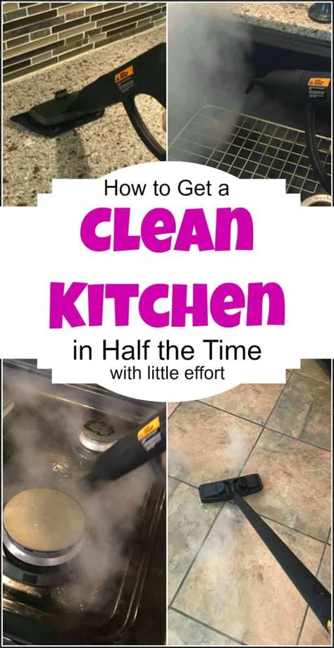 How To Get A Clean Kitchen In Half The Time & With Less Effort
