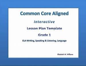 Lesson Plan Pdf Template First Grade Common Core Aligned Interactive Lesson Plan