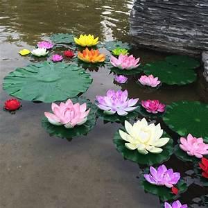 10PCS/lot 10CM Real Touch Artificial Lotus Flower Foam