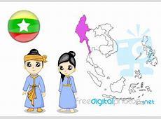 Costume Of Myanmar Stock Image Royalty Free Image ID