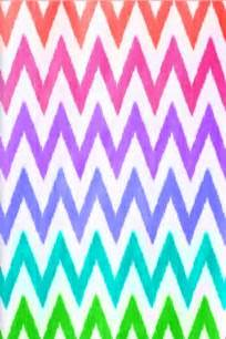 Rainbow Chevron Pattern