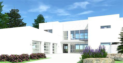 eye catching  bed modern house plan td