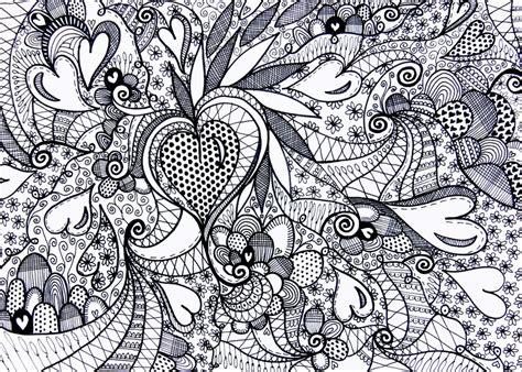 Ausmalbilder Für Erwachsene Herzen : Ausmalen Als Anti-stress Lieben