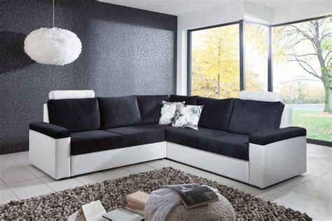 canapé noir et blanc pas cher canapé d 39 angles design pas cher
