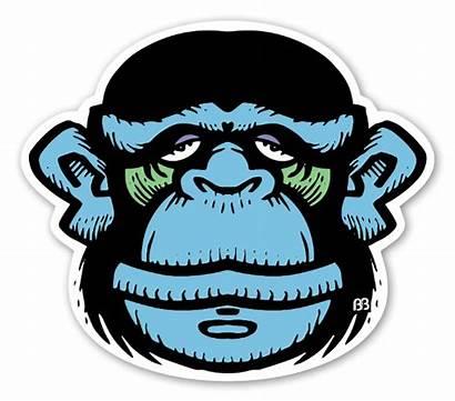 Monkey Stickers Bobby Sticker Skulls Cartoons Custom