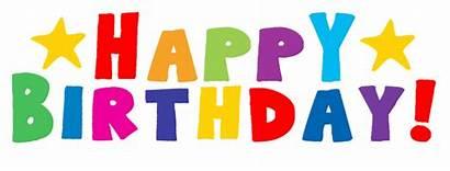Birthday Happy Bday Birthdays Clipart Simple Sister