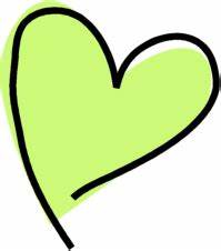 Funky Green Heart Clip Art - Funky Green Heart Image