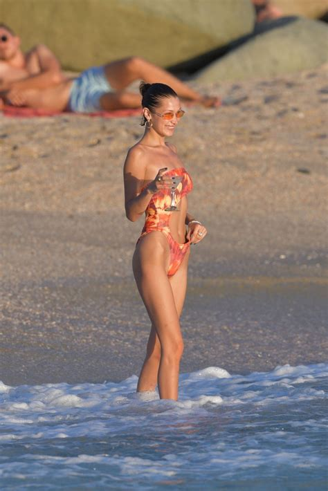 bella hadid  bikini   beach  st barts celebzz