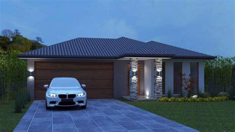 narrow lot  bedroom house plan  double garage  seca australian dream home  house