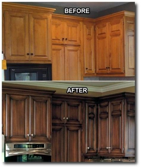 staining kitchen cabinets darker before and after kitchen updates i that they did a stain with an 9777