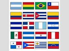 LATIN AMERICA FLAGS