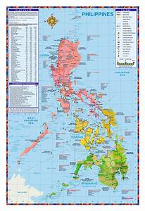 Detailed tourist map of Philippines | Philippines | Asia ...
