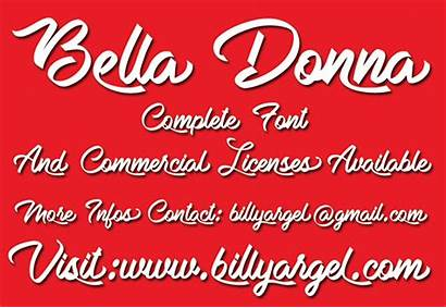 Bella Donna Font Personal Fonts Argel Billy