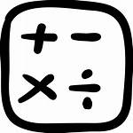 Icon Drawn Hand Calculator Button Signs Icons