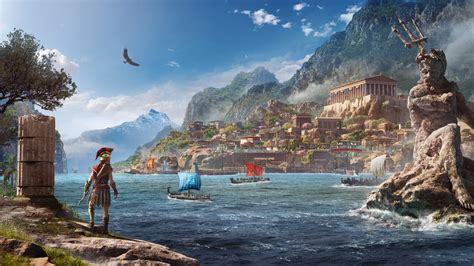 wallpaper assassins creed odyssey   key art