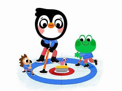 Curling Dribbble Carlo Beranek Drawing