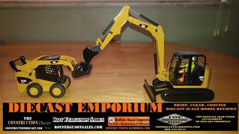 diecast masters cat  cr sb mini excavator   skid steer loader youtube
