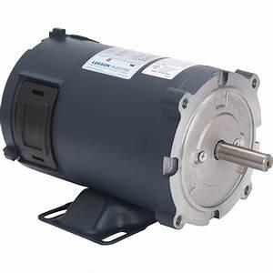 Leeson 24 Volt Dc Motor  U2014 1  3 Hp  1 750 Rpm  13 5 Amps