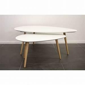 Table Basse Gigogne : surf table basse gigogne blanche achat vente tables ~ Zukunftsfamilie.com Idées de Décoration