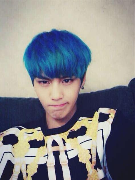 I Loved Suwoongs Blue Hair So Much Kpop Pinterest