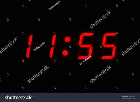 Digital Clock Displaying 11 55