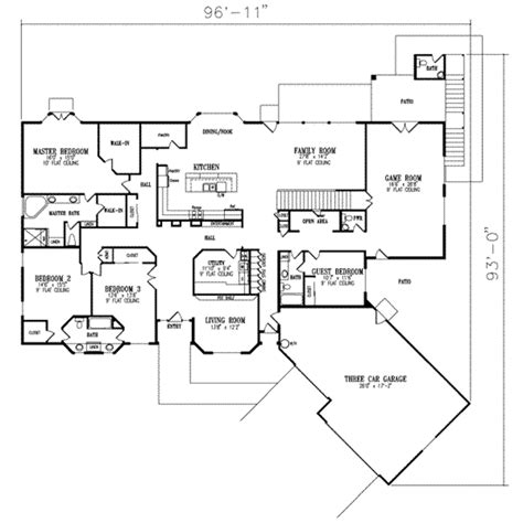 house plans 6 bedrooms adobe southwestern style house plan 6 beds 5 5 baths
